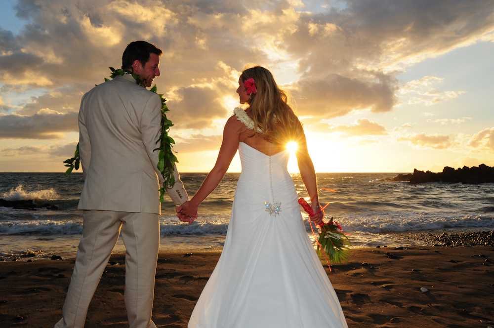 Sunset at a Maui Wedding