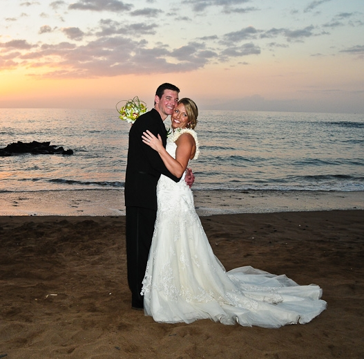 Maui Wedding on the Beach at Sunset